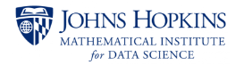 Johns Hopkins Mathematical Institute for Data Science