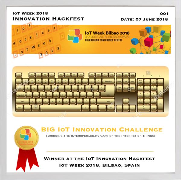 BIG-IoT Winner Trophy