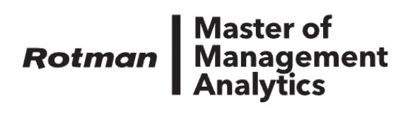 Rotman School of Management, MMA