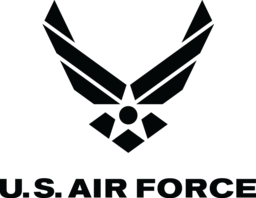 Sponsor us air force logo monochrome black