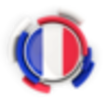 France round flag with pattern 64