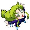 Yae using her recovery wind kunoichi jump