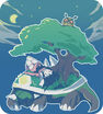 Dawn sleeping on torterra