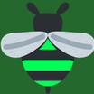 Bumble icon with bg