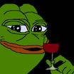 Pepe with wine glass 6246
