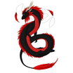Black and red custom asian dragon by electrofang d5y0dkn235