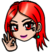 Emote red hair