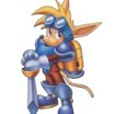 Sparkster (sparkster  rocket knight adventures 2 official artwork 3)