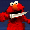 Elmo with a knife