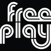 Freeplay logo white on black