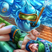 Arcade riven pool party zac by naivascha hd wallpaper fan art artwork league of legends lol 768x1086