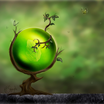 Wallpaper green orb