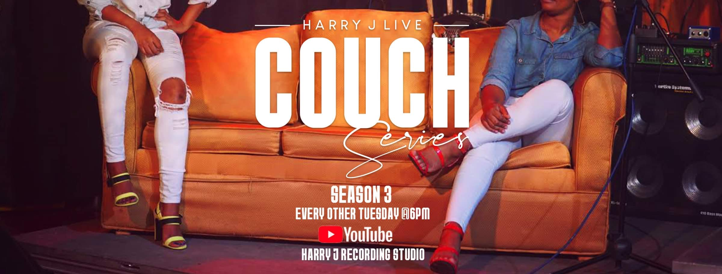 Roots Percussionist on Couch Series at Harry J Studio