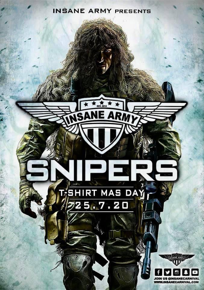 "Insane Carnival presents ""Snipers"" T-Shirt Mas Day for Antigua Carnival"
