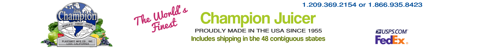 Official Champion Juicer Website