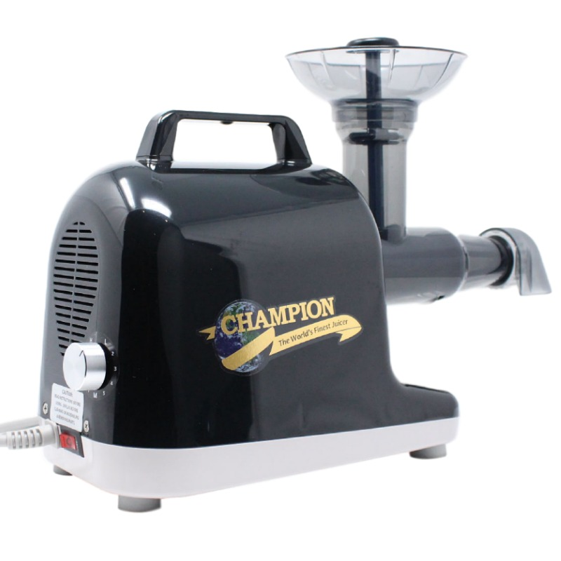 Champion Juicer | Champion Professional 5000 Dual Auger Masticating Juicer in Midnight Black | Shop Juicers