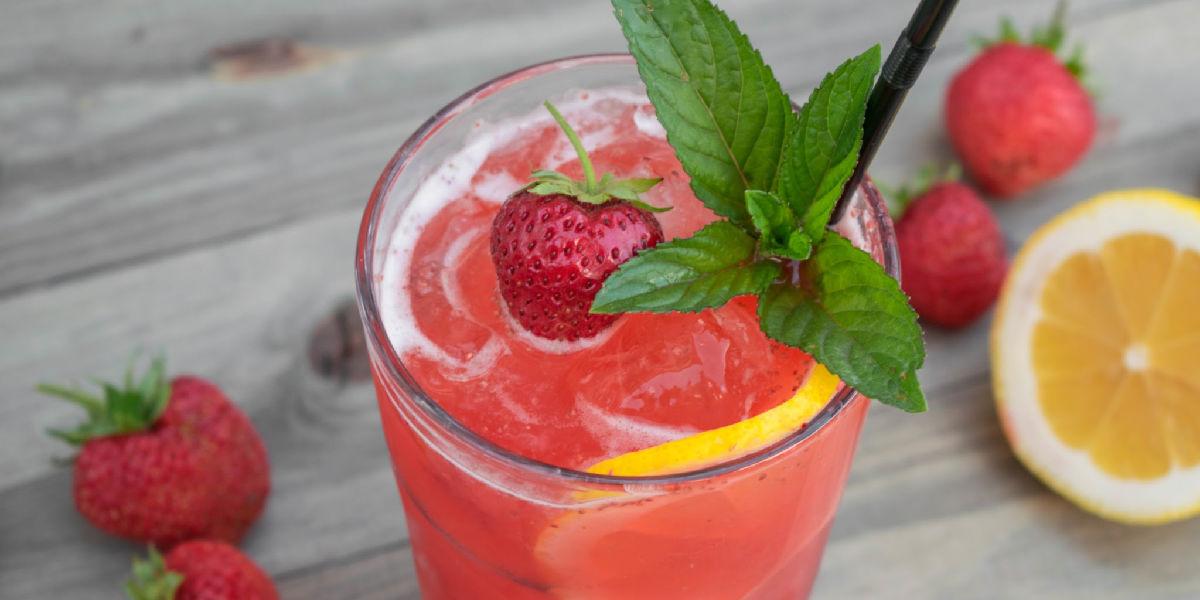 Strawberry Lemonade Recipe, pink lemonade recipe, strawberry, lemon, lime, honey