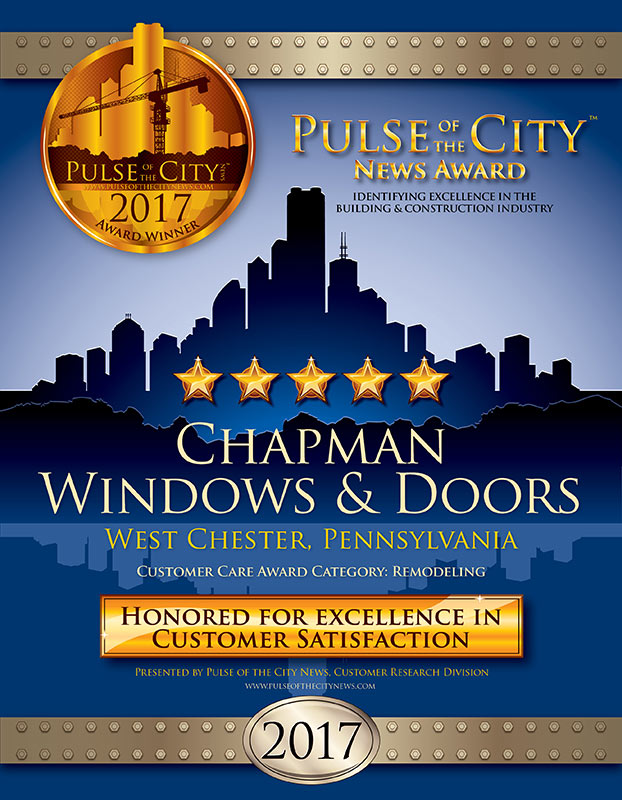 Chapman Windows Doors & Siding Award