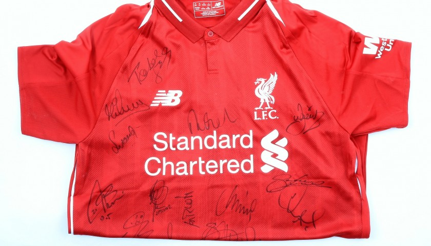 official liverpool shirt 2018 19 signed by the legends charitystars official liverpool shirt 2018 19 signed by the legends charitystars