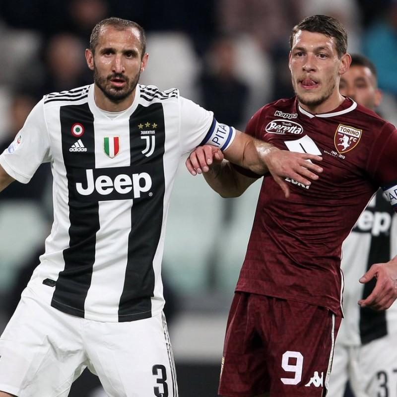 Chiellini's Worn and Signed Shirt and Armband - Juventus vs Torino