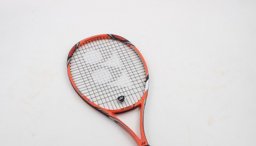 Original Yonex racket, signed by Stan Wawrinka
