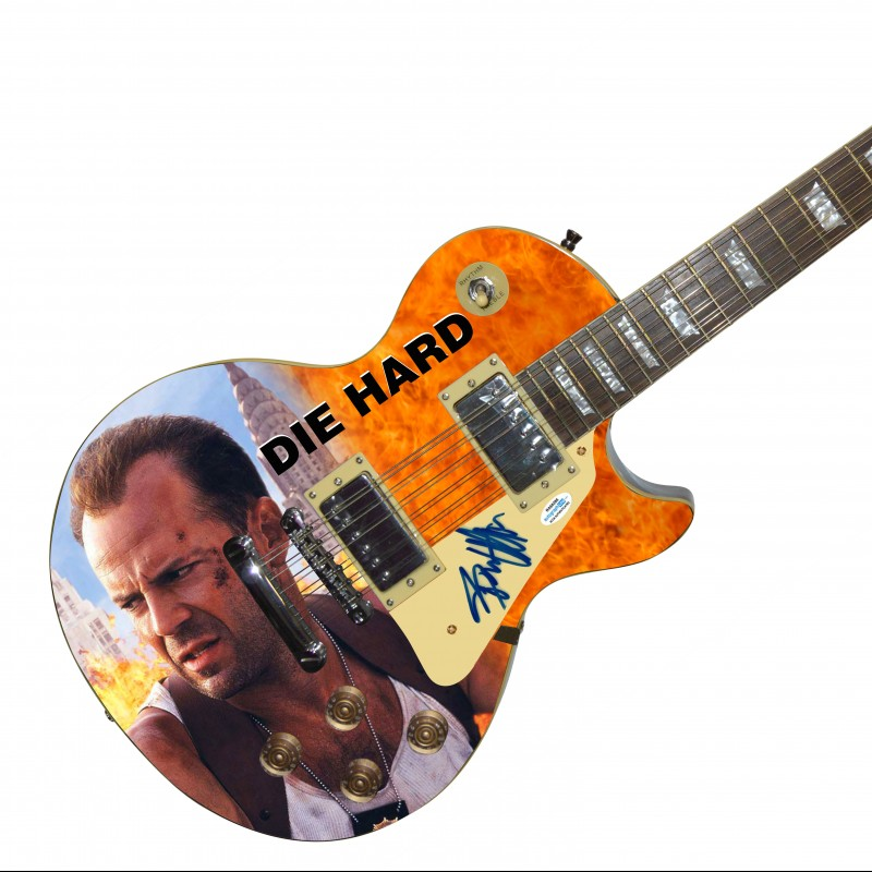 "Bruce Willis Hand Signed ""Diehard"" Guitar"