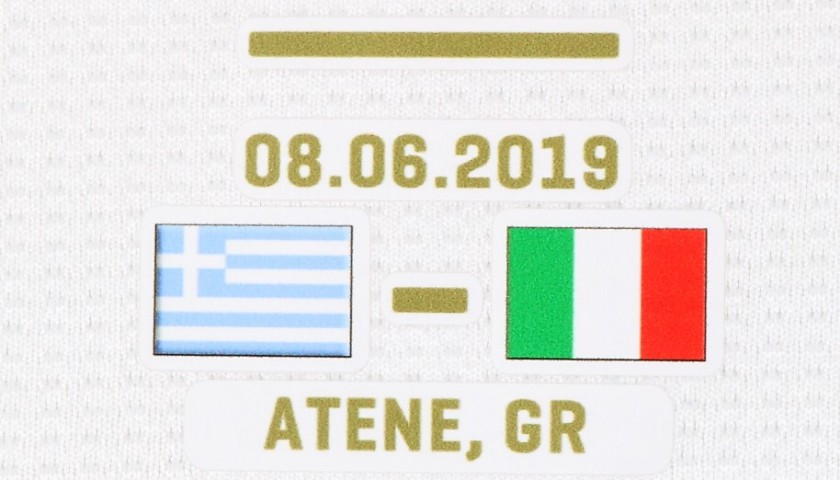Jorginho's Match Shirt, Greece-Italy 2019