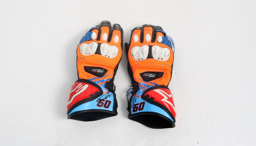 Alpinestars Gloves Worn and Signed by Van der Mark, 2017 Season