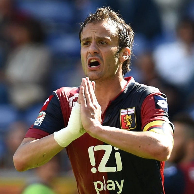 Gilardino's Genoa Match-Issued Shirt, 2013/14