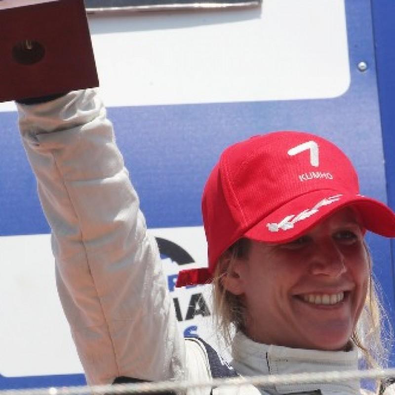 Michela Cerruti worn and signed cap, Auto GP Imola 2014