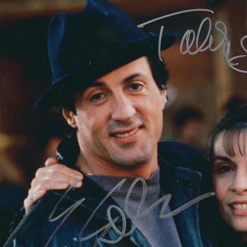 Rocky: Sylvester Stallone and Talia Shire hand signed foto