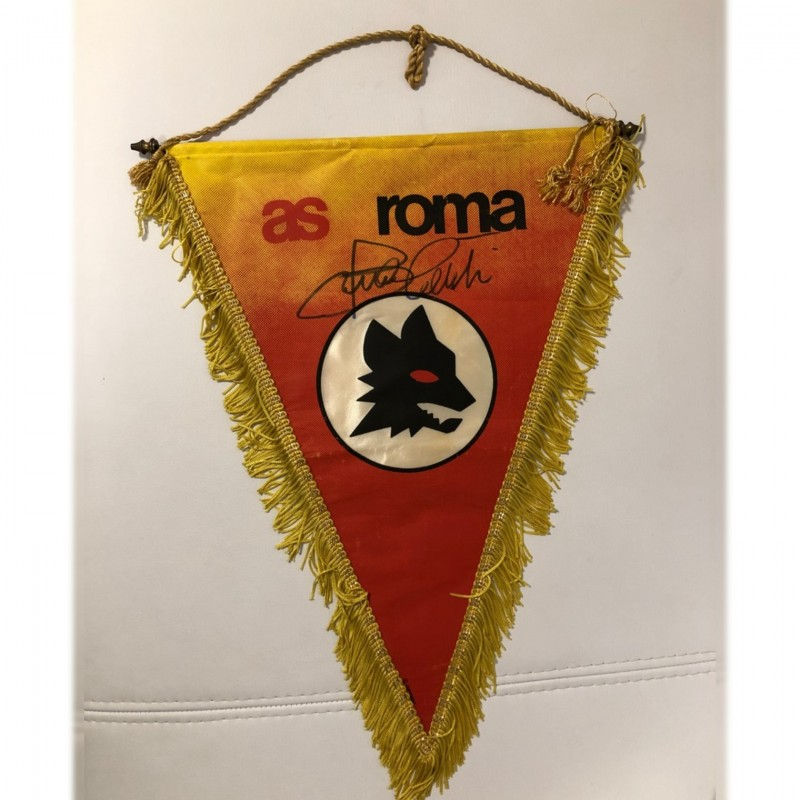 Official Roma Pennant - Signed by Bruno Conti