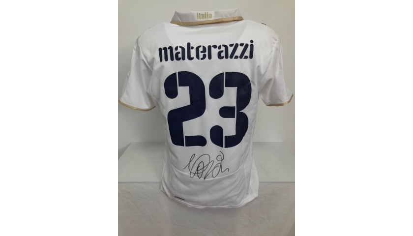 Materazzi's Official Italy Signed Shirt, Euro 2008