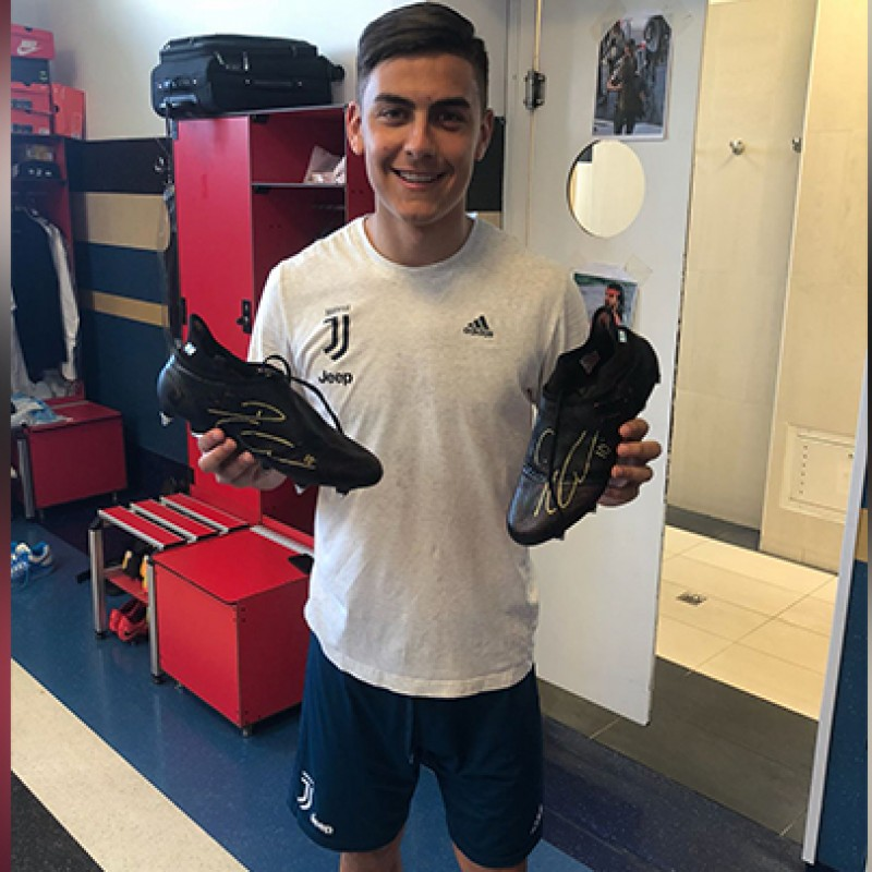 Dybala Worn/Signed Football Boots, Season 2017/18