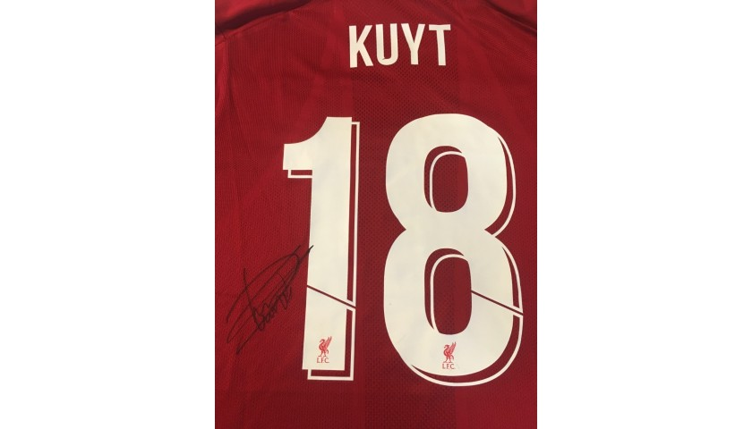 Kuyt's Liverpool FC Legends Match Worn and Signed Shirt