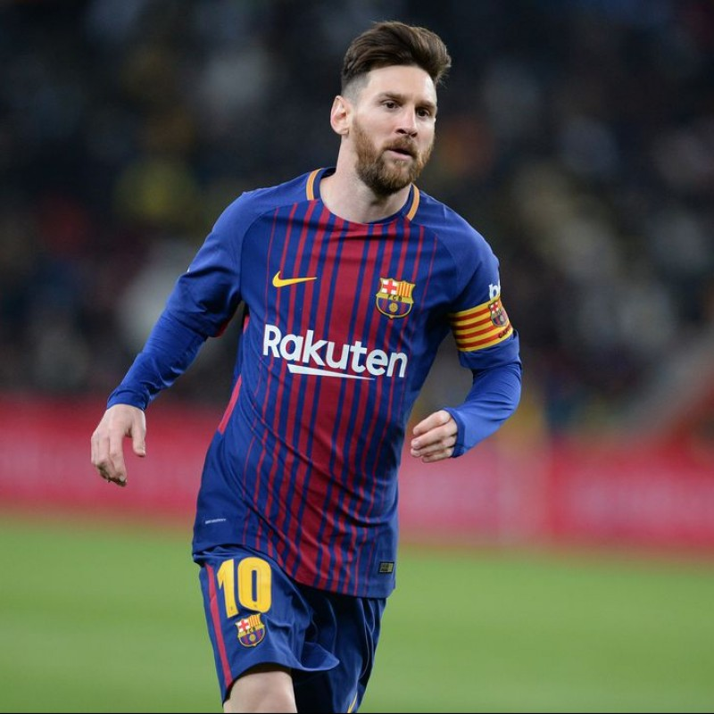 Messi's Barcelona Match Shirt, Liga 2017/18