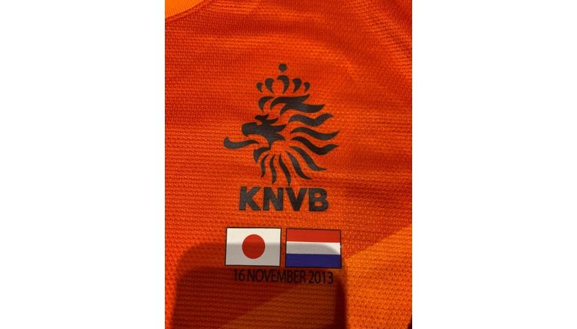 Van der Vaart's Match Shirt, Japan-Holland 2013