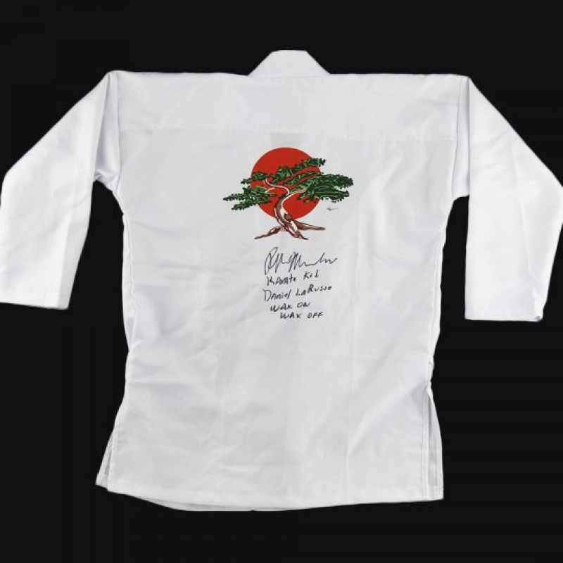 Ralph Macchio Signed Karate Kid Long Sleeve GI with 3 Inscriptions