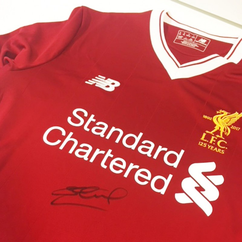 Steven Gerrard Signed Liverpool FC 125 Home Shirt