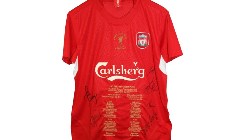 "Unique LFC ""Heroes of Istanbul"" Signed Shirt"