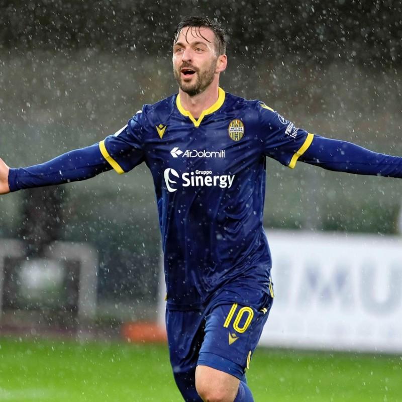 Di Carmine's Hellas Verona Worn and Signed Kit, 2019/20
