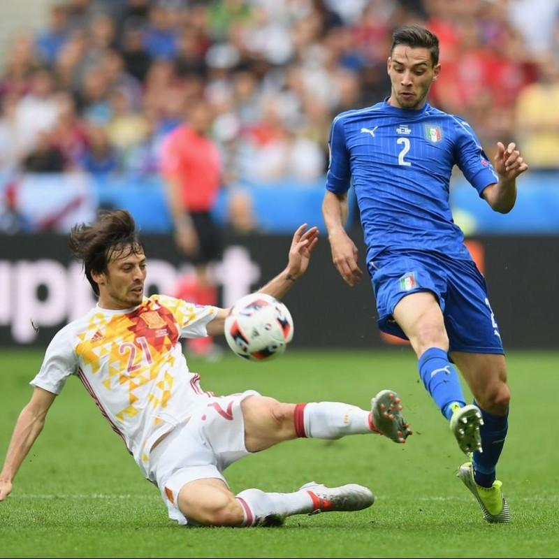 De Sciglio's Match-Issue/Worn Shirt, Italy-Spain 2016