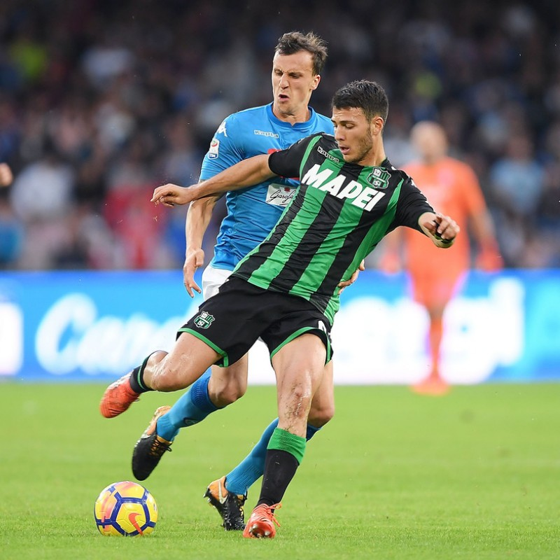 Mazzitelli's Match-Issued/Worn Sassuolo Shirt, 2017/18 Serie A