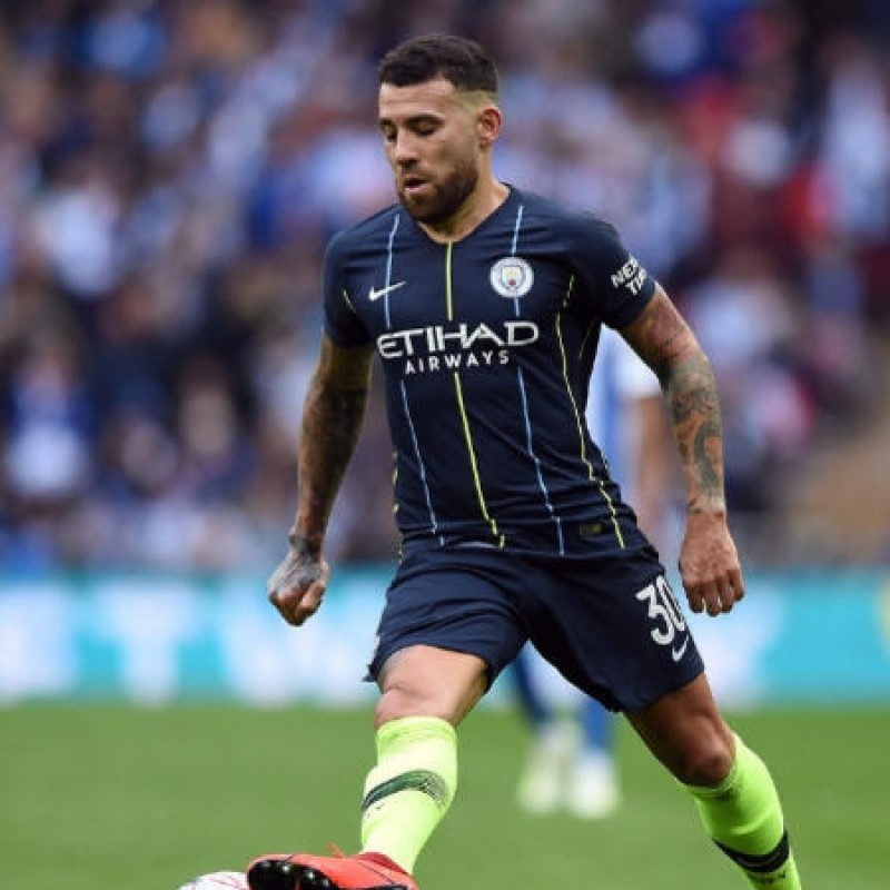 Otamendi's Manchester City Match Navy/Volt Shorts, Premier League 2018/19