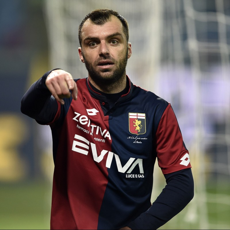 Pandev's Signed Match-Worn 2018 Genoa-Inter Shirt