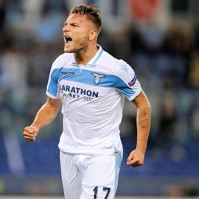 Immobile's Official Lazio Shirt, 2018/19 - Signed