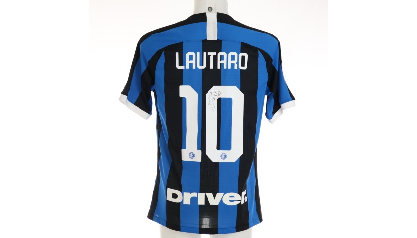 Lautaro's Authentic Inter Signed Shirt, 2019/20