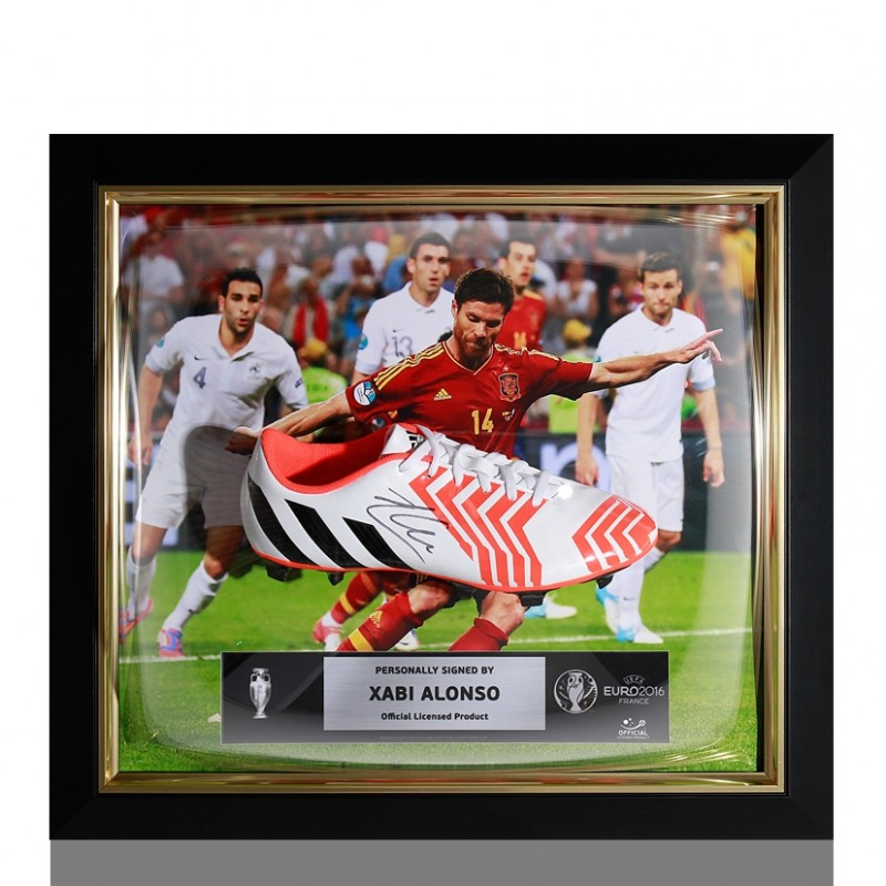Xabi Alonso UEFA EURO 2016 Signed Boot