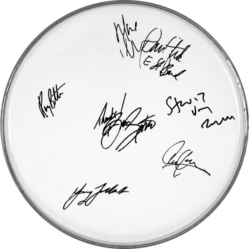 Bruce Springsteen & The E-Street Band Drumhead with Printed Signatures
