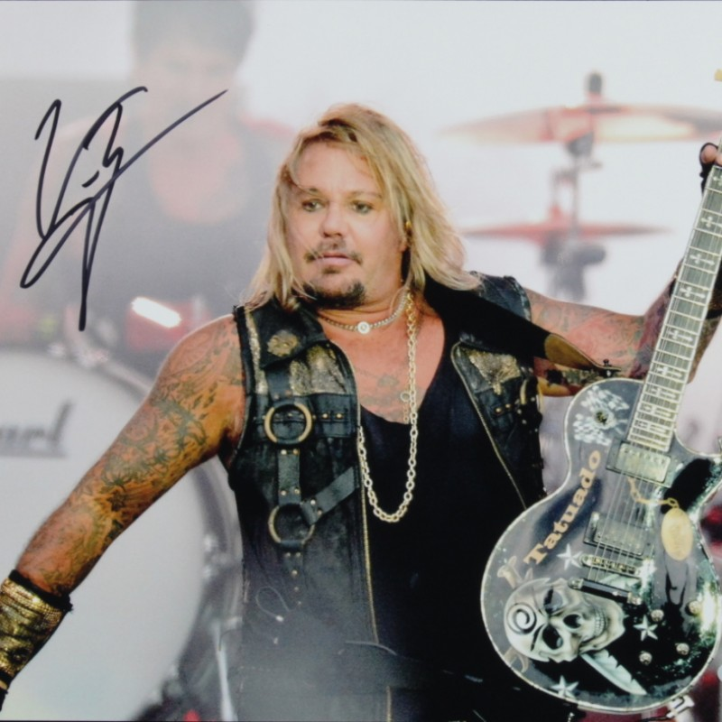 "Vince Neil ""Motley Crue"" Signed Photograph"